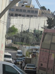 The wall cutting through Palestinian neighbourhoods